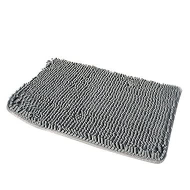 [Updated]VDOMUS Non-slip Microfiber Bath Mat Bathroom Mats Shower Rugs, 20 32  Gray