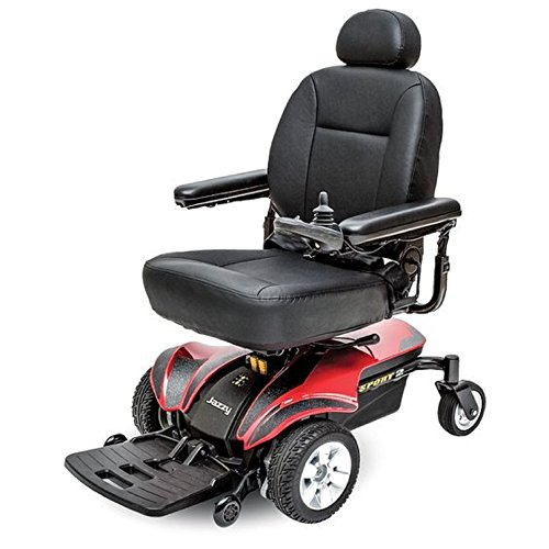 Package Red Power (Pride Mobility - Jazzy Sport 2 - Front-Wheel Drive Power Chair - Jazzy Red - PHILLIPS POWER PACKAGE TM - TO $500 VALUE)