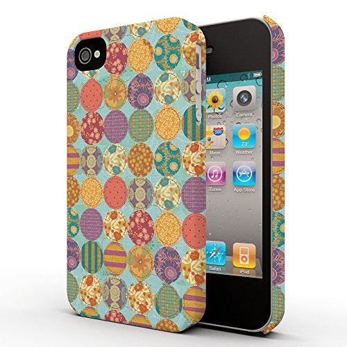Koveru Back Cover Case for Apple iPhone 4/4S - Multi Color Pattern