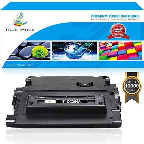 (TRUE IMAGE Compatible 1 Pack 64A CC364A P4014n P4015n Toner Cartridge for HP 64A CC364A 64X CC364X for HP Laserjet P4014n HP Laserjet P4015n HP Laserjet P4015x Printer Toner Cartridge - Black)