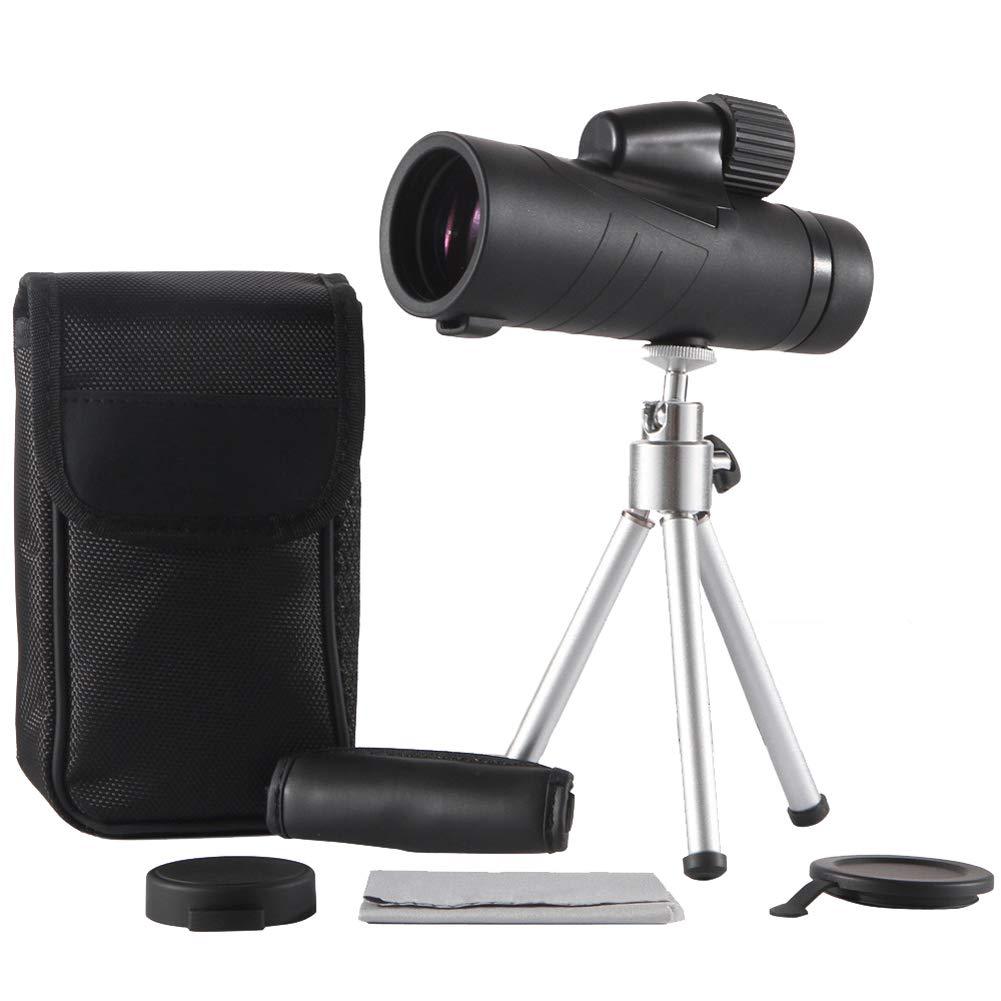 Ueasy Store Monocular Telescope,15x50 BAK4 Prism - Waterproof Fog-Proof FMC Monoculars for Night Vision Bird Watching Hunting Camping Travelling Wildlife Scenery (Black)