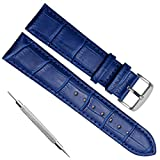 Quick Release Genuine Leather Replacement Watch Band Strap with...
