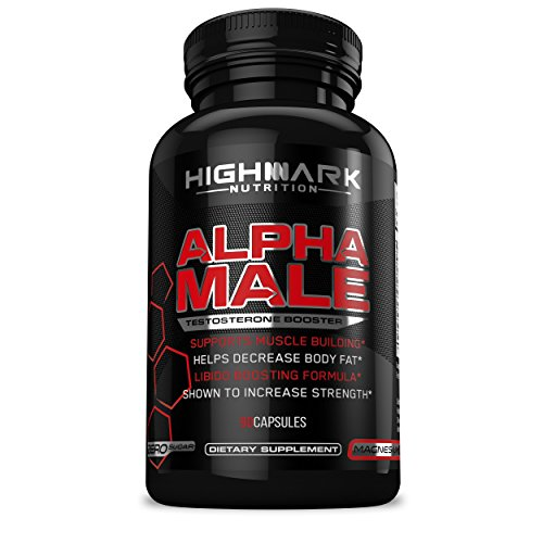 Alpha Male Natural Testosterone Booster for Men by HighMark Nutrition: Libido Enhancer Dietary Supplement Pills for Increased Sex Drive, Muscle Building, Energy, Stamina, and Endurance