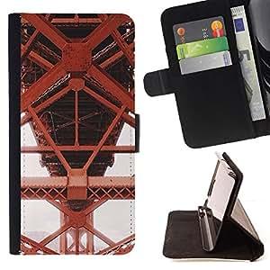 RED STRUCTURE CONSTRUCTION METAL IRON/ Personalizada del estilo del dise???¡Ào de la PU Caso de encargo del cuero del tir????n del soporte d - Cao - For Samsung Galaxy S4 Mini i9190