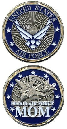 """U.S. Air Force """"Proud Air Force Mom"""" Challenge Coin"""