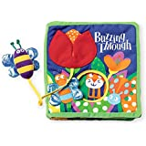 Manhattan Toy Soft Activity Book with Tethered Toy, Buzzing Through