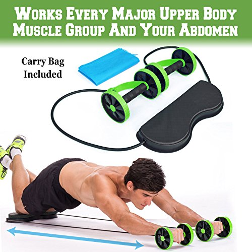 Abdominal+Machine Products : BenefitUSA Home Gym Abs Roller Exercise Body Fitness Abdominal Training Workout Machine Equipment