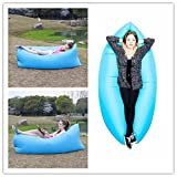 Kekilo Outdoor Fast Inflatable Sleeping Bag Folding Lazy Sleeping Bed Beach Sleep Bed Camping Air Lounger Sleep Sofa (Blue)