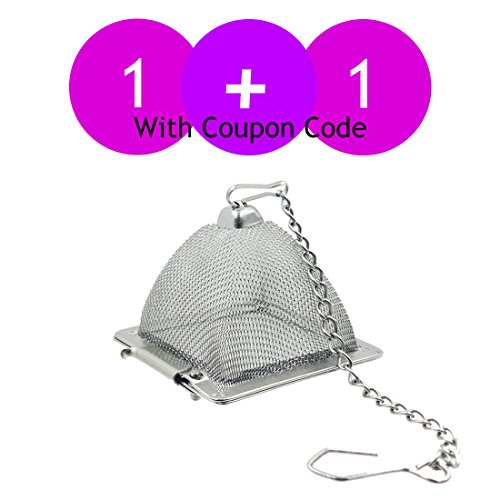 Review Of 1 + 1 For Limited Time! Makimy Pyramid Tea Infuser - NEW & IMPROVED - Best Tea Strainer fo...