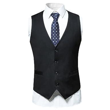 13f78a40c859c FOMANSH ベスト メンズ フォーマル ベスト スーツ メンズ 無地 ビジネス ジレベスト Vネック 4つボタン 紳士