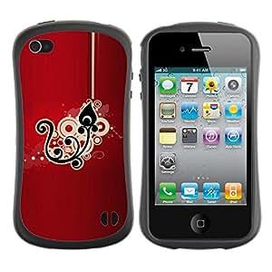 "Pulsar iFace Series Tpu silicona Carcasa Funda Case para Apple iPhone 4 / iPhone 4S , Patrón Dibujo floral negro"""