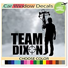 (Black) Team Dixon The Walking Dead Zombie Daryl Dixon Supporter Sticker Decal Car Window Laptop Skin Choose Color!