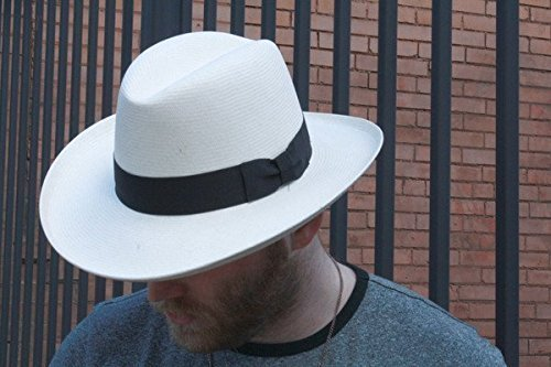 Mens 1920s Style Hats and Caps Homburg Panama Straw Dress Godfather Hat $79.00 AT vintagedancer.com