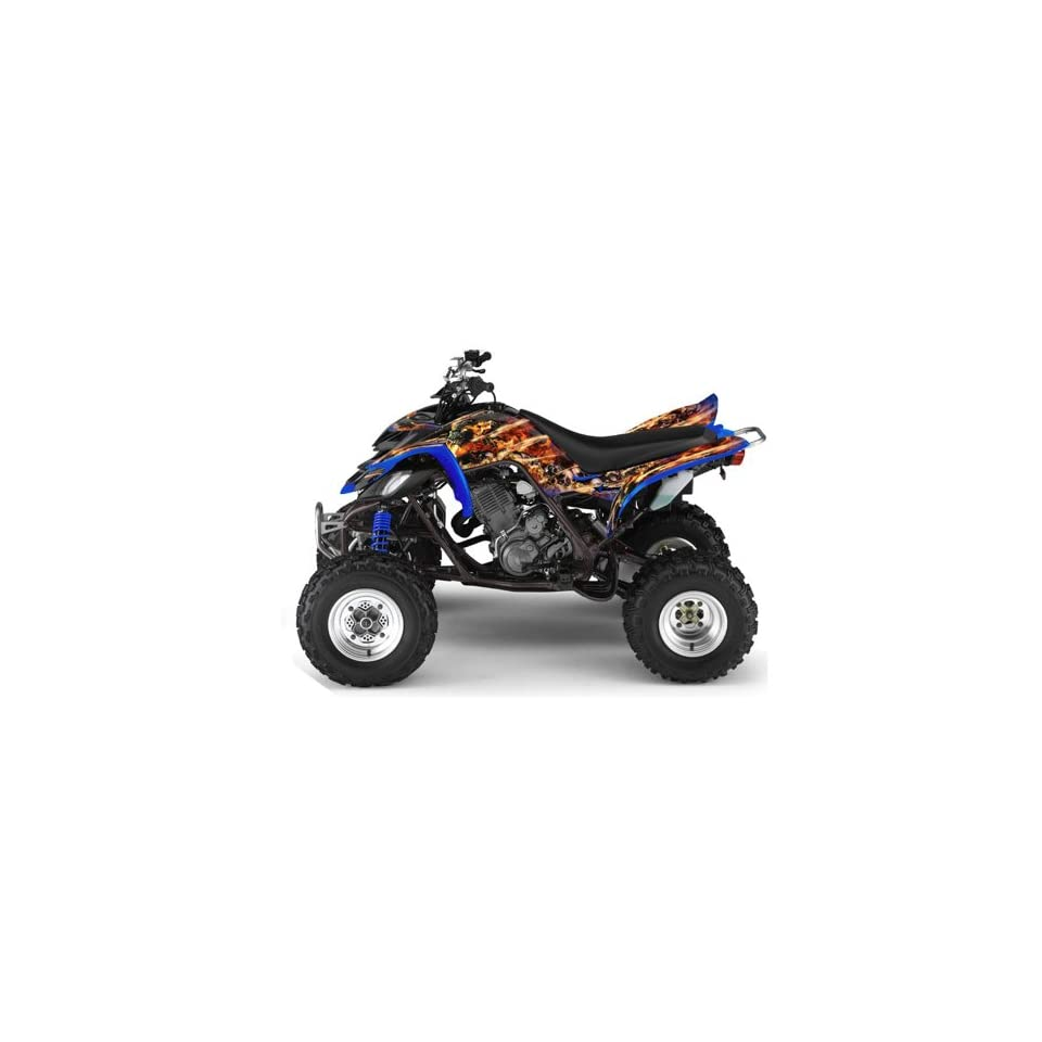AMR Racing Yamaha Raptor 660 ATV Quad Graphic Kit   Firestorm Blue
