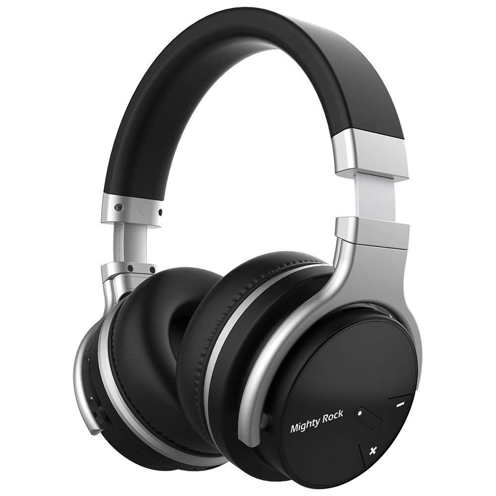 Meidong E7C Bluetooth Headphones Over Ear Wireless Headphones with Microphones Hi-Fi Deep Bass Wireless Headset 30H Playtime Wired and Wireless Bluetooth Headphones for Cell Phones/PC/TV