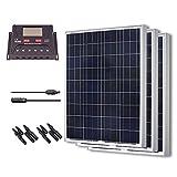 Renogy 300 Watt 12 Volt Polycrystalline Solar Bundle Kit with 30A PWM Controller - LCD Display