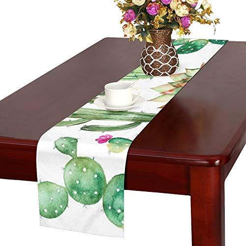 - WHIOFE Set Hand Painted Table Runner, Kitchen Dining Table Runner 16 X 72 Inch for Dinner Parties, Events, Decor