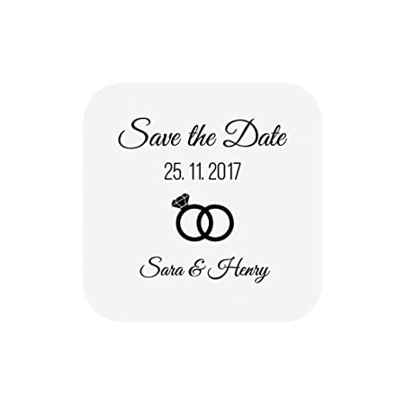 ekunstreet 70x personalised save the date stickers 35mmx35mm