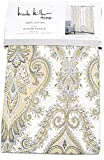 Mustard Yellow Curtains Nicole Miller Home Madrid Floral Paisley Scrolls Window Panels 52 by 96-inch Set of 2 Bohemian Medallions Window Curtains Hidden Tab Drapes Mustard Yellow Gray Ivory Beige Grey Boho Style Drapery