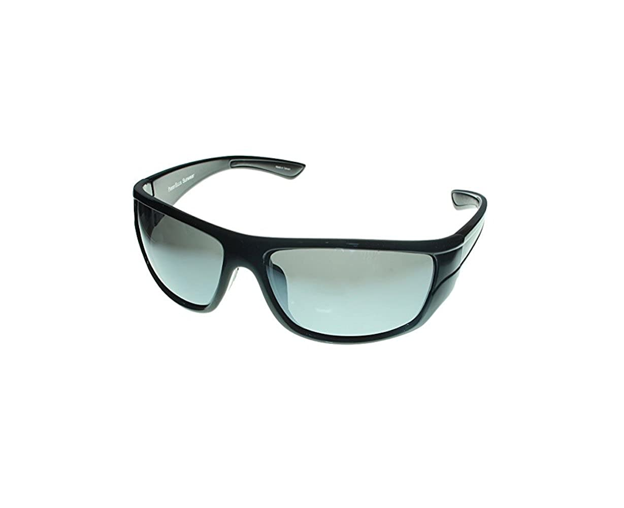97ea6ba63cd Amazon.com  Perry Ellis Sunglasses Mens Black Crystal Plastic Wrap PE18 1   Clothing