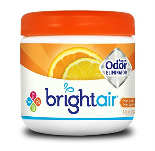 (Bright Air Solid Air Freshener and Odor Eliminator, Mandarin Orange and Fresh Lemon Scent, 14 Ounces)