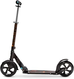Micro Black - Commuter Scooter for Adults, Big 200mm Wheels for a Smooth and Fast Ride - Folding and Adjustable Height