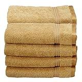 Superior Collection 100% Premium Long-Staple Combed Cotton 8-Piece Hand Towel Set, Gold