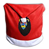 YHOLY_1 A Fishon Lion With Plam Trees With Glasses Christmas Dining Chair Back Cover Slipcovers Decoration