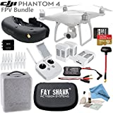 DJI Phantom 4 Quadcopter w/ Professional FPV Bundle: Includes 3 Intelligent Flight Batteries, FATSHARK Attitude V3 FPV Goggles, SanDisk 64GB MicroSD Card and more...