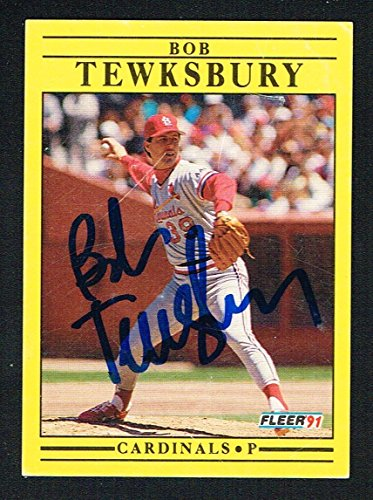 Bob Tewksbury #648 signed autograph auto 1991 Fleer Baseball Trading ()