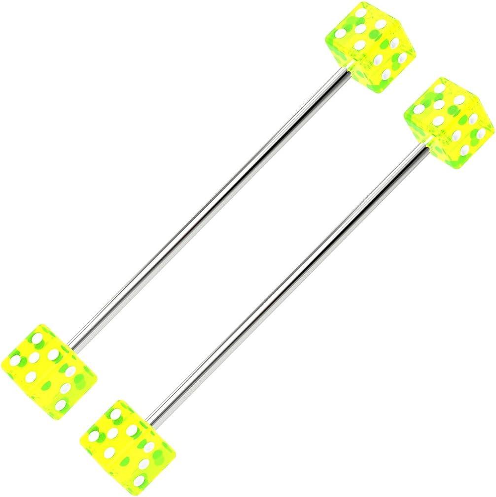 Length 38mm 5mm balls Set of 3 industrial scaffold bars width 1.6mm 14 gauge