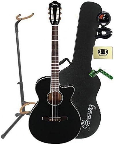 Ibanez aeg10niibk acústica guitarra eléctrica en madera de caoba ...