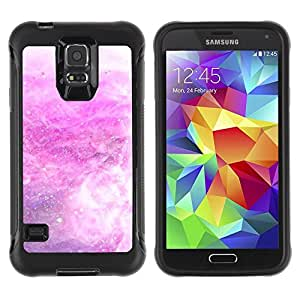 LASTONE PHONE CASE / Suave Silicona Caso Carcasa de Caucho Funda para Samsung Galaxy S5 SM-G900 / Storm Snow Stars Abstract White