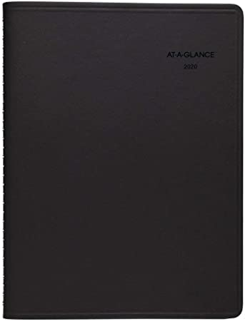 """8-1//4/"""" x 11/"""" Large AT-A-GLANCE 2020 Weekly Planner // Appointment Book Black"""