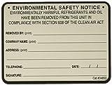 Diversitech Safety Note Label (04850)