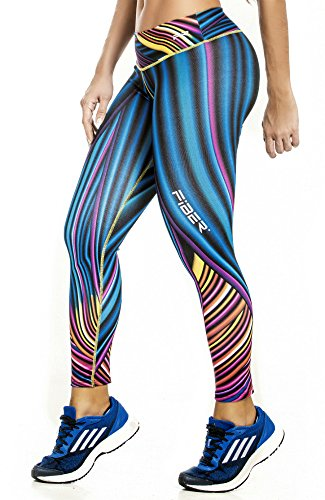 Fiber Printed Legging Stripe Lines Abstract Pattern (Abstract Stripes)