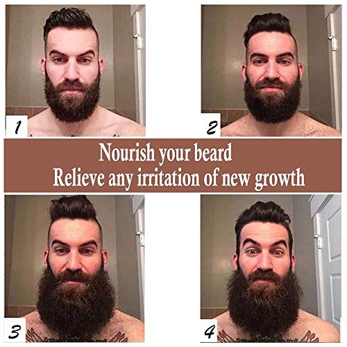 QQwow Beard Grooming & Growth Oil for Men, Leave-in Conditioner & Softener, Softens & Strengthens Mustache and Conditions Skin, Men's Gifts - Natural Scent, 2 fl.oz