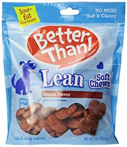 Better Than Lean Soft Chew Dog Treats, Bacon Flavor, 8-Ounce Pouch, 5 Count