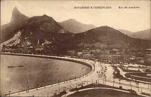 Botafogo e Corcovado Rio de Janeiro, Brazil Original Vintage Postcard