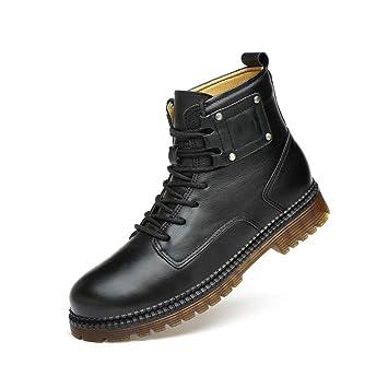 28d93d07419 Amazon.com: RUI Men's Martin Boots,Men Fall/Winter Genuine Leather ...