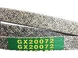 EM Mower Deck Belt GX20072 -42' - Kevlar - Compatible with John Deere - LA100 LA105 LA110 LA115