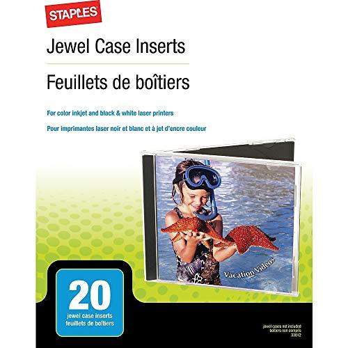 Staples 501797 Jewel Case Inserts 20/Pack ()