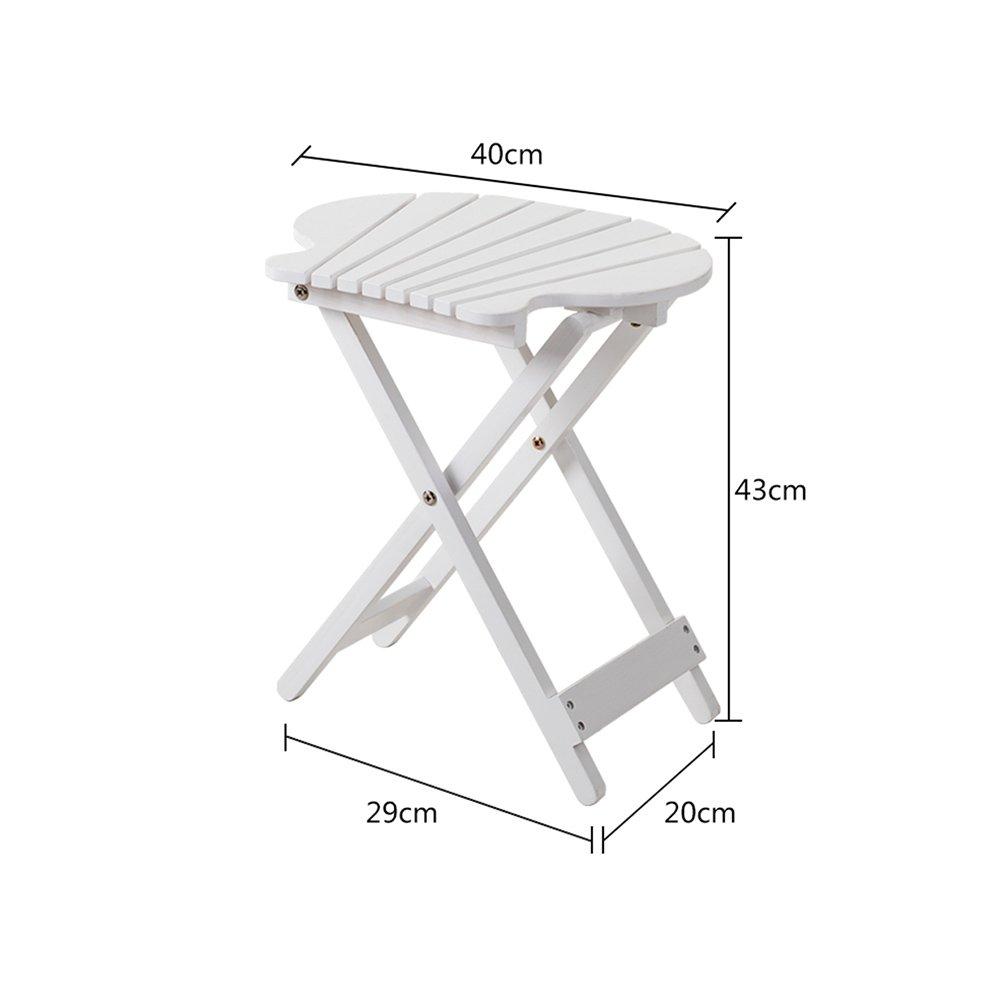 YQQ シンプルなフラワーポットシェルフ バルコニー 屋外 無垢材折り畳みテーブル ポータブルデスク ラウンジ コー\u200b\u200bヒーテーブル ティーテーブル 防水 強い (色 : 白) B07HDYVR2P 白 白