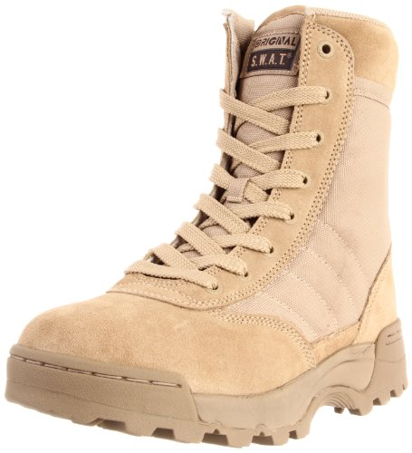 Original SWAT Classic 9in. Tactical Boots, Side Zip, Tan, Si