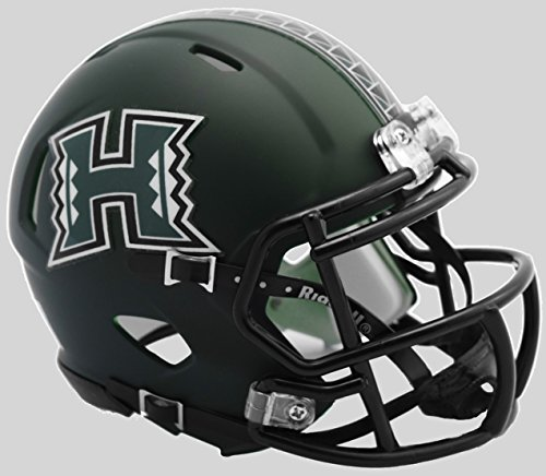 Hawaii Helmet Warriors (Hawaii Warriors Matte NCAA Riddell SPEED Mini Helmet)