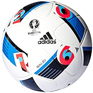 adidas Herren Ball EURO 2016 Official Match, White/Bright Blue/Night Indigo,...