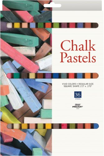 PRO ART Chalk Pastel Set, 36 Color - Artists Chalk Pastel