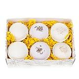 Bath Bomb Gift Set w/Vanilla, Lavender and Oatmeal, Milk & Honey Scented Fizzies Bath Balls | Set of 6, Handmade in USA From Tatum & Shea (Oatmeal)