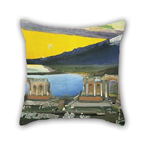 Alphadecor Throw Cushion Covers 20 X 20 Inches / 50 By 50 Cm(2 Sides) Nice Choice For Drawing Room,living Room,pub,bar,son,festival Oil Painting Csontváry Kosztka, Tivadar - Ruins Of The Greek Thea