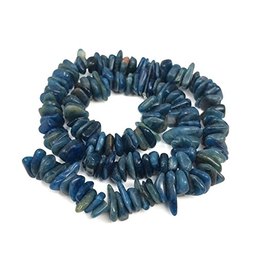 Kyanite Natural (Top Quality Natural Kyanite Gemstone 12x8mm Center Drilled Rondelle Pebble Gemstone Loose Beads 16